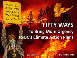 Fifty Ways to Bring More Urgency to BC's Climate Action Plans